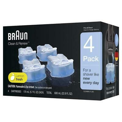 Braun Clean & Cartridges Refill Renew CCR 2 3 4 6 Count (Packaging May Vary)