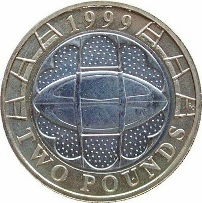 £2 Two pound Coin 1999 Rugby World cup freepost+international