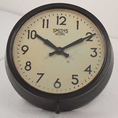 Original Smiths Sectric Large Vintage Bakelite Working Electric Wall Clock