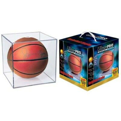 1 Ultra Pro Basketball Storage Square Cube Holder Acrylic Display Case UV Safe