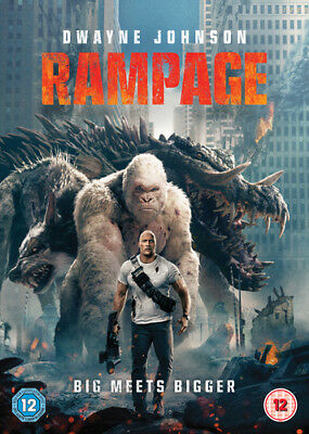 Rampage DVD (2018) Dwayne Johnson ***NEW***