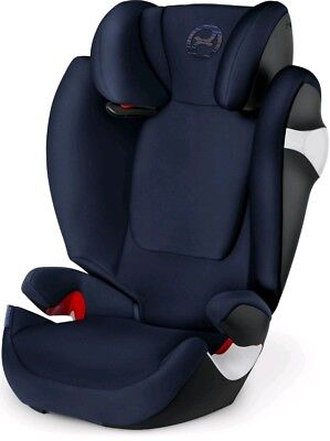 New Cybex Gold Solution S-Fix Car Seat, Group 2/3, Denim Blue