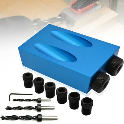 1 set Pocket Hole Screw Jig with Dowel Drill Set Carpenters Wood Joint Tool