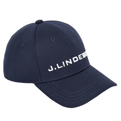 2018 J.Lindeberg Aiden Pro Poly Golf Cap JL Navy One Size Fits All NEW