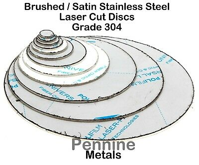 STAINLESS STEEL Blank Round DISCS 304 Grade Sheet Metal Precision Laser Cut