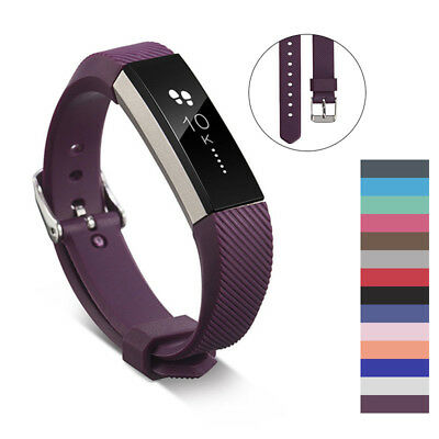 Soft Silicon Wristband For Fitbit Alta/HR Secure Fitness Bracelet Strap Unisex
