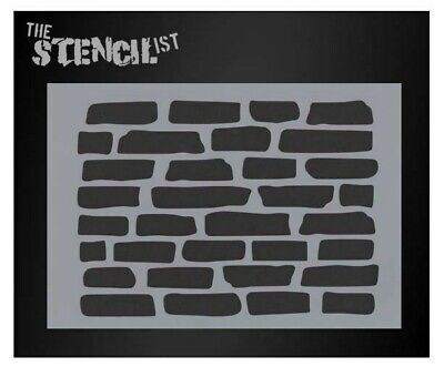 Brick wall art stencil,Strong,Reusable,Recyclable