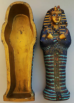 "7"" King Tut Sarcophagus Egyptian Decorative"