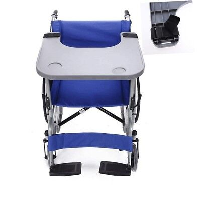 Adult Wheelchair Tray Table with 2 Cup Holders for Eating Reading Removable