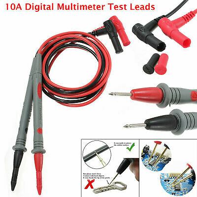 Best Quality 10A Digital Multimeter Test Leads Probes Volt Meter Cable UK