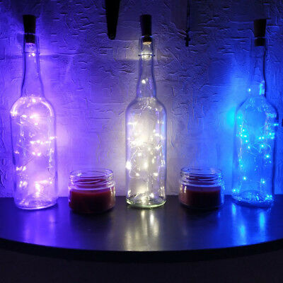 1M 3.28FT 10 LED Cork Shaped Copper Wire String Light Wine Bottle For Xmas SS494