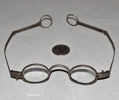 Fine Pair Late 18th, Early 19th Century EYE GLASSES SPECTACLES w/ RING TEMPLES