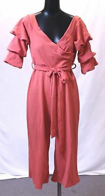 044e5b14f1f6 Boohoo Women s Plus Hellie Off Shoulder Tie Jumpsuit AB3 Sahara Red UK 18  US