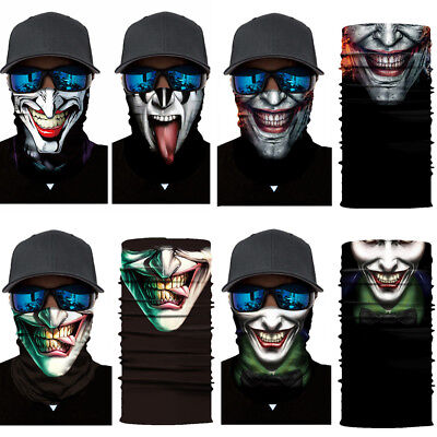 Joker Motorcycle Cycling Neck Tube Scarf Snood Face Mask Warmer Balaclava