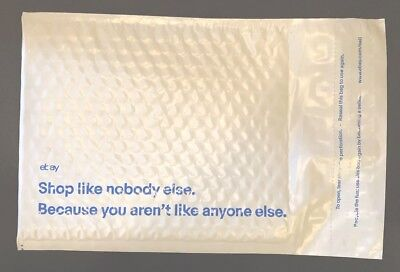 """30 Ebay Branded Padded Bubble Mailer Airjacket with Blue Print  6.5"""" x 8.75"""""""