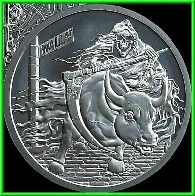 1oz Pyramid Scheme Proof Silver Shield MiniMintage Death of the Dollar