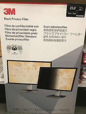 3M  Black Privacy Screen Filter 23.8 (PF238W9B) (Wide Screen)(New!!!)(unopened)