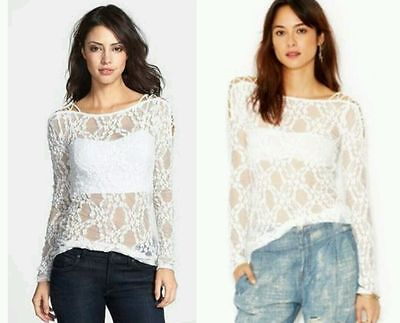 NEW Intimately Free People Off-Shoulder Floral Crop Top Size M L NWT hydrangeas