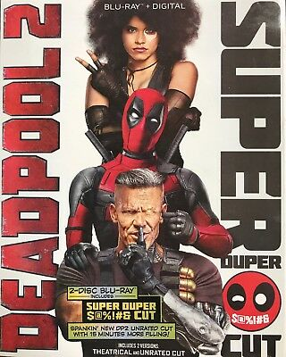 DEADPOOL 2 (Blu-ray+Digital, 2018 2-Disc Super Duper Cut) +Slipcover FREE SHIP!