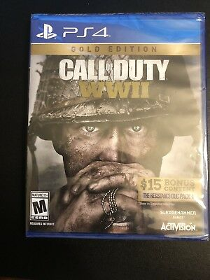 Call Of Duty WW2 Gold Edition For PS4 Unopened