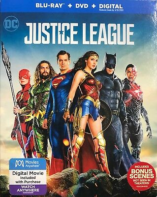 DC Justice League ( Blu-ray + DVD ) BRAND NEW Factory Sealed With Slipcover