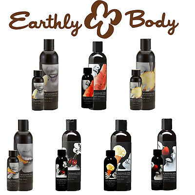 Earthly Body Flavoured Edible Erotic Intimate Massage Oil 100% Natural Vegan
