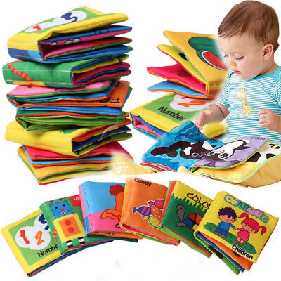 Kids Baby Cloth Bed Cognize Book Intelligence Development Educational Toy
