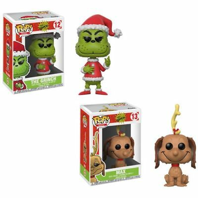Funko Pop! Books Dr. Seuss THE GRINCH #12 & MAX #13 Vinyl Figures *YOUR CHOICE*