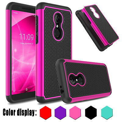 For Alcatel T-Mobile Revvl 2 Hybrid Rubber Shockproof Slim Hard Armor Case Cover