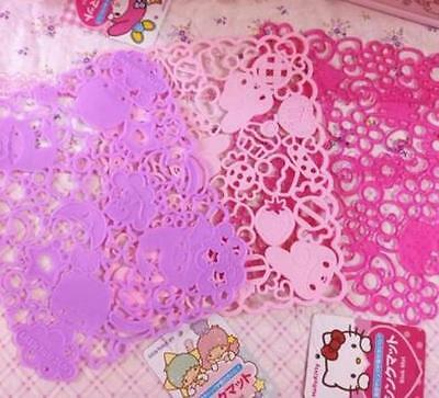 Hello Kitty,Little Twin Stars Hello Kitty Soft Pink Hollow Cup Mat Placemat TS71