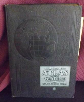 New Revised Atlas of the World New Census Edition World Syndicate Pub Co 1935