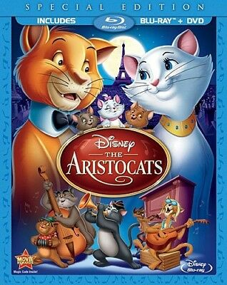 THE ARISTOCATS New Blu-ray + DVD Special Edition in Blu-ray Packaging Disney