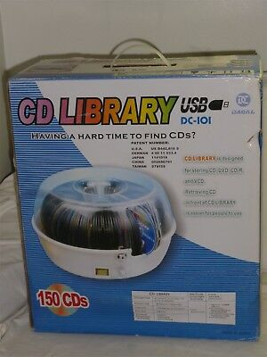 Rare Electric Cd, Dvd, Cd-R, Cd-Rw Library Dacal Technology Dc-101 - New In Box!