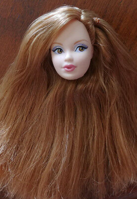 Barbie Doll Head Only  'miss Topaz - Birthstone' - Golden Brown Hair - Adorable