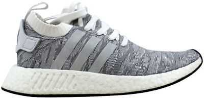 62ee85cccd0a6 MEN S ADIDAS NMD R2 PK Primeknit Casual Shoes White   Grey Sz 9.5 ...