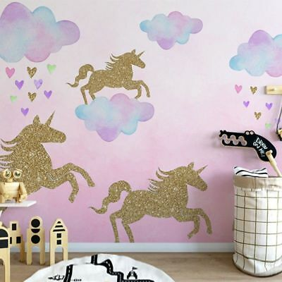 Children Unicorn Pattern Wall Stickers Living Room Bedroom Decor Hot Sale