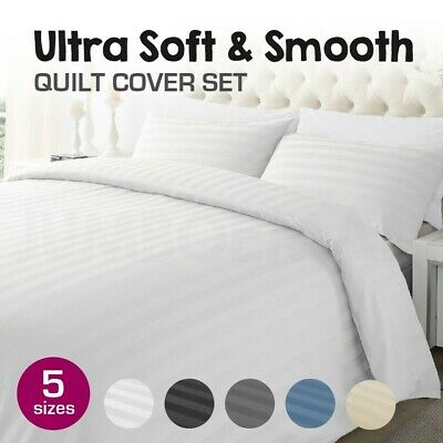 1000TC Microfibre Single/Double/Queen/King/SK Size Bed Quilt/Duvet Cover Set