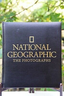 """National Geographic """"The Photographs"""" Leather Bound Hardcover Book: 1994 1st Ed."""
