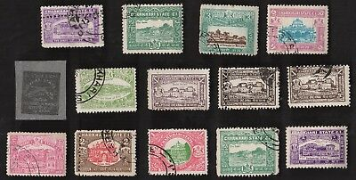 14  All Different CHARKHARI Stamps  (INDIAN STATE)