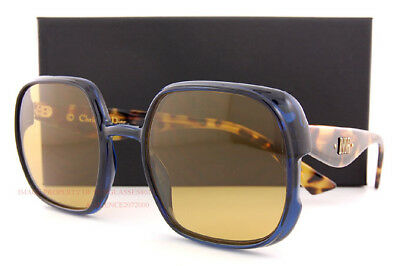 f6574c21e1 Brand New Christian Dior Sunglasses Nuance PJP 70 Blue Havana Yellow For  Women