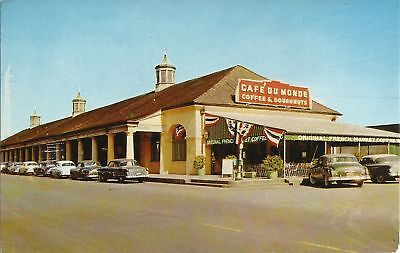 Old Vintage Cafe Du Monde In French Market Of New Orleans Louisiana Postcard