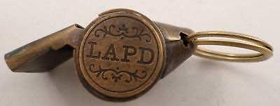 Lapd Los Angeles Police Department Solid Brass Key Ring Chain Fob #A-38