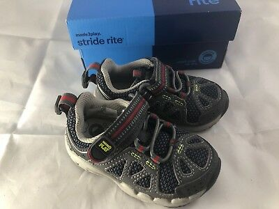 fc9af445f5679c STRIDE RITE M2P Baby Ian Leather Sneakers Boys Size 5.5 WIDE ...