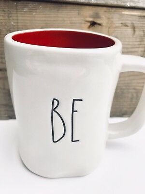 Rae Dunn BE MINE mug Red Interior Valentines Day Gift Love DOUBLE Sided