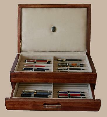 Fountain Pen Storage Display Chest, #653, Hand-Crafted, Holds 42 Pens, Usa