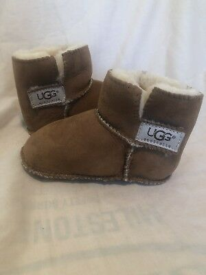 f6e047a42edd UGG INFANT BABY Chestnut Toddler Erin Shearling Boots S N 5202 Size ...