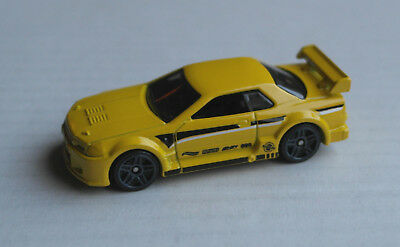 Hot Wheels Nissan Skyline GT-R R32 gelb Sportwagen Auto Car PKW Mattel HW yellow