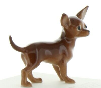 Brown & White Chihuahua Miniature Dog Figurine Made in the USA by Hagen-Renaker