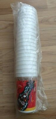 20x 2000 SYDNEY OLYMPICS MCDONALD'S COKE COCA COLA PLASTIC CUPS, SEALED PACK