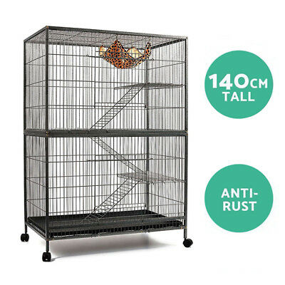 Bird Cage Parrot Aviary Ferret Pet Cat Hamster Rat Budgie Large 4 Level 140cm